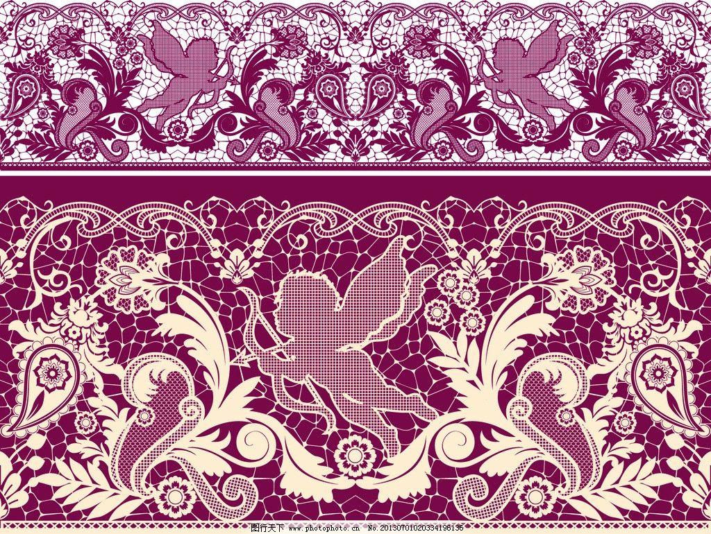 花边矢量素材 蕾丝花边模板下载 蕾丝花边背景 蕾丝 花边 花纹 欧式