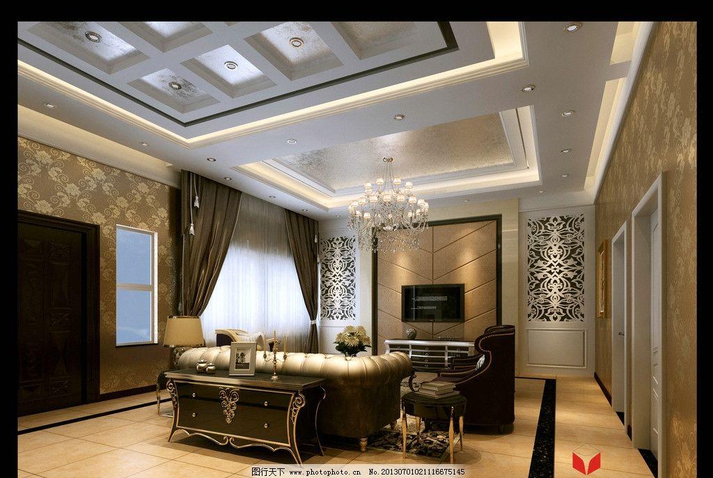 客厅效果图 新古典 简欧 沙发 窗户 窗帘图片