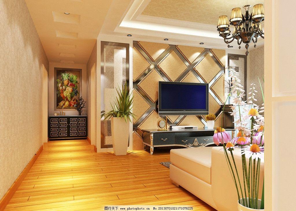 电视背景墙 电视墙             吊顶 沙发背景 3d作品 3d设计 设计 7
