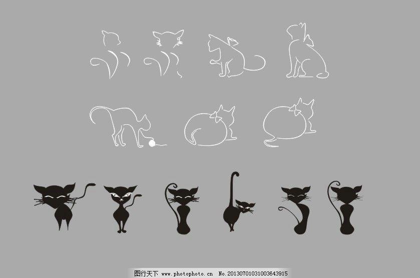 简笔画 猫的图片