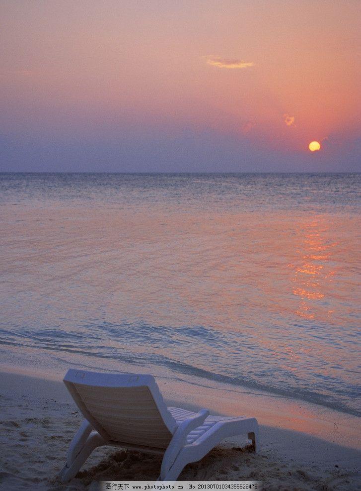海边度假 海边 度假 日落 夕阳 海 落日 海边椅子 其他 旅游摄影 摄影图片