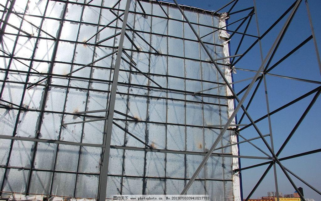 钢结构 户外 支撑架 焊接 角钢 建筑摄影 建筑园林 摄影 300dpi jpg