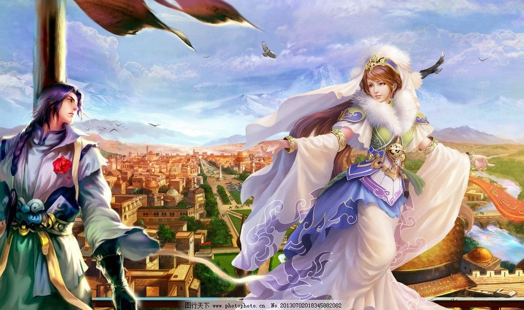 游戏壁纸 游戏人物 游戏 动漫人物 游戏原画 原画 美女 古装女 书剑图片