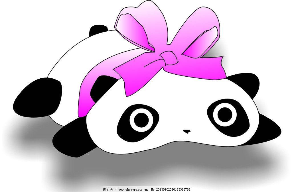 熊猫 可爱 精灵 唯美 小动物 卡通设计 广告设计 矢量 cdr图片