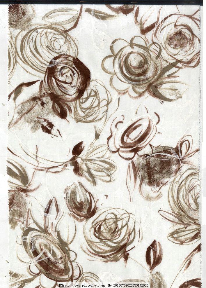 服装面料图案 服装面料图案四方连续 花卉图案 手绘水彩 花卉植物