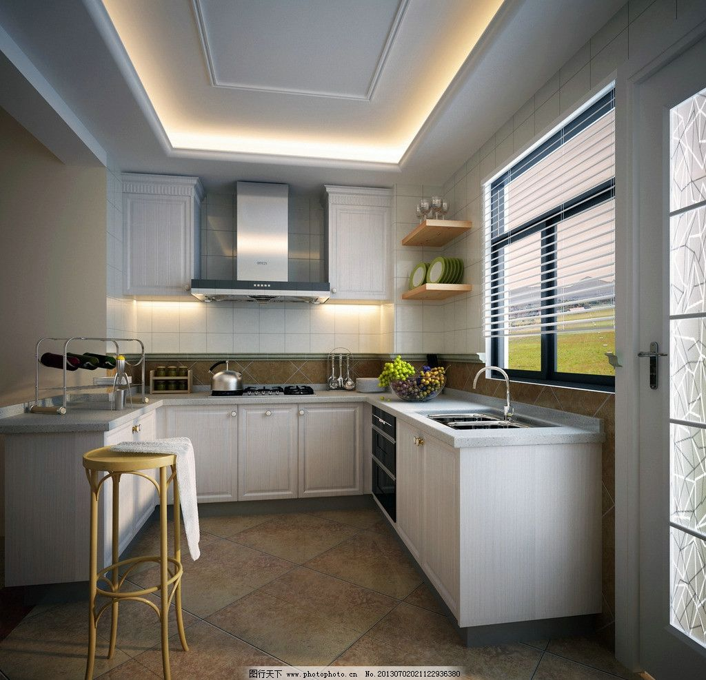 橱柜效果图 载 橱柜      油烟机 柜体 板材 欧式 奢华 奢华厨房 灶具
