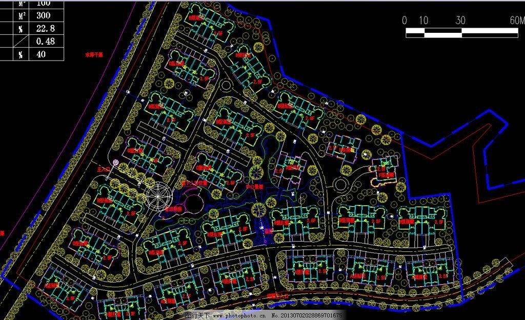 别墅区规划总平面图片