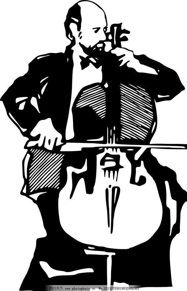 大提琴 演奏 音乐 男人图片