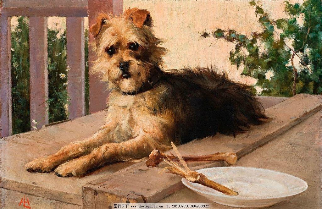 小狗油画 狗狗 宠物 爱犬 风光画 风景画 山水画 欧洲油画 珍藏品