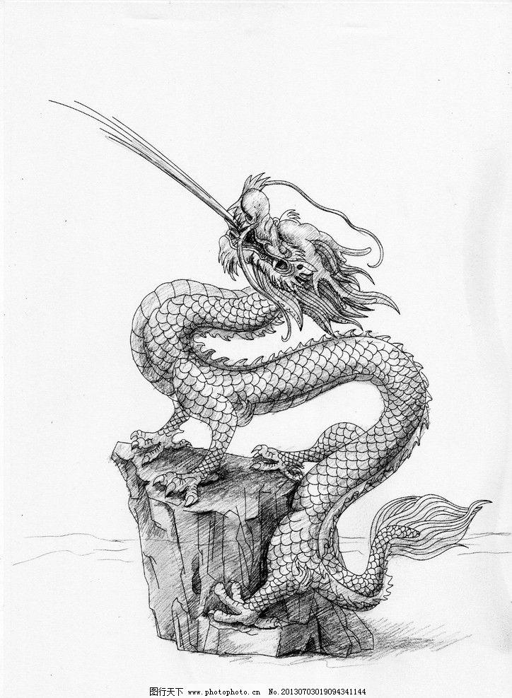 龙素描图片-喷水壶的原理图片