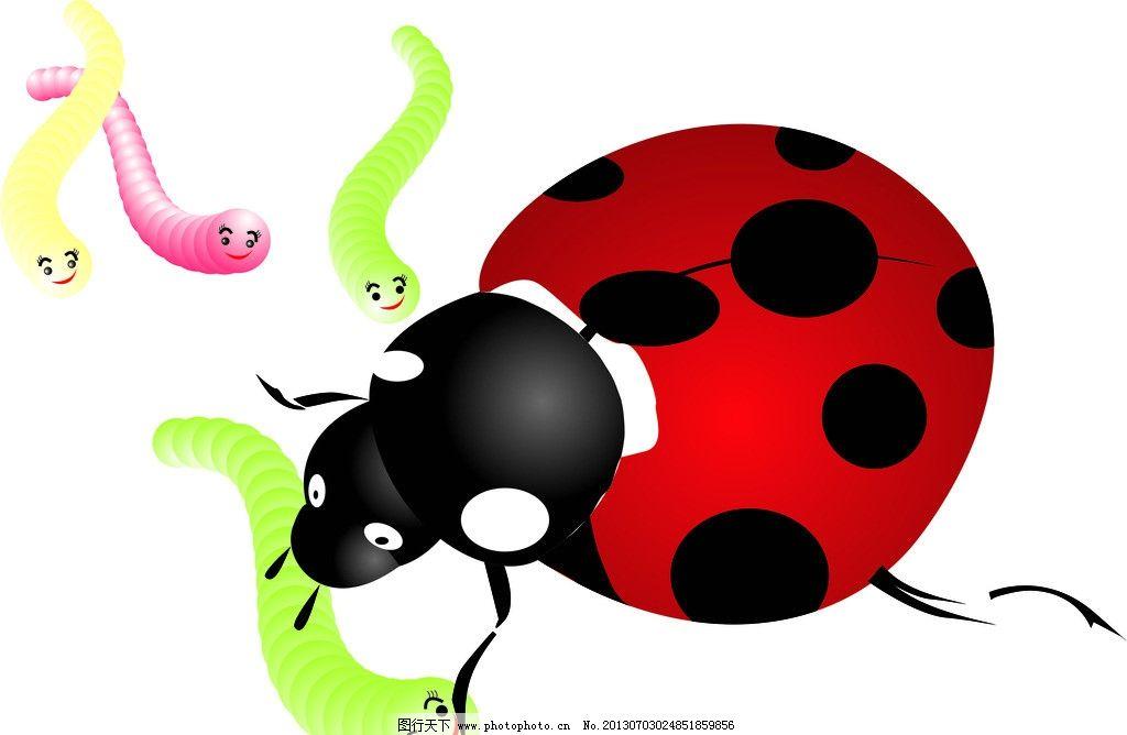 卡通七星瓢虫昆虫简笔画步骤图片大全