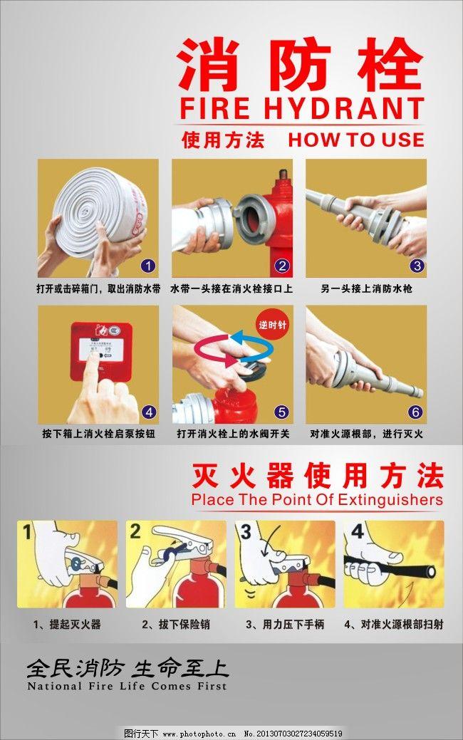 消防栓灭火器使用方法