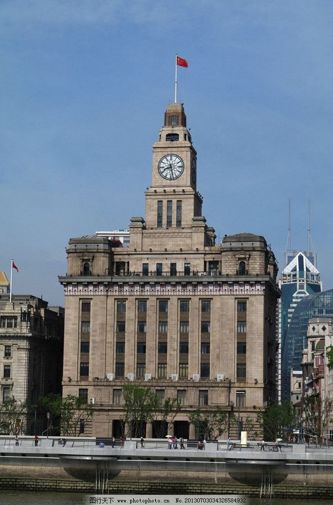 钟楼 上海 黄浦江 浦西 万国建筑 塔楼 银行 大钟楼 城市图片 其他