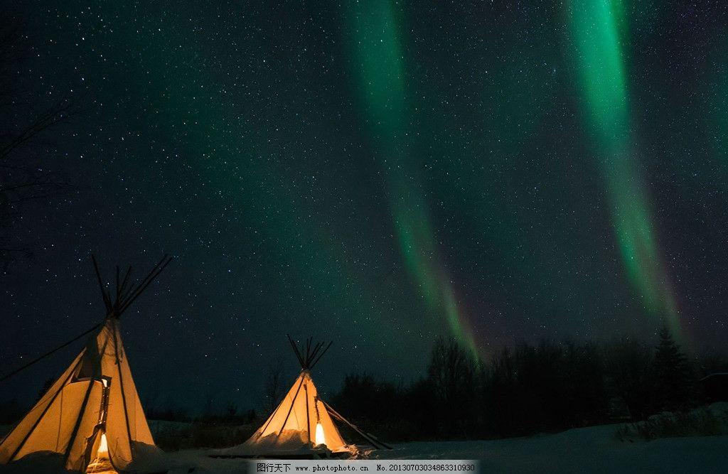 极光 帐篷 绿色 繁星 雪地 壁纸 自然风景 自然景观 摄影 72dpi jpg