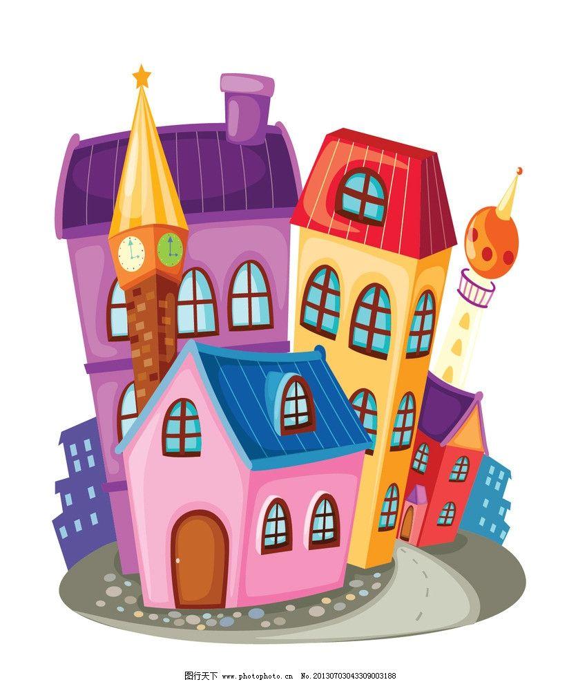 卡通 房子 狼堡 灰太狼 红太郎 喜洋洋 卡通房子 卡通城堡 绘画 创意