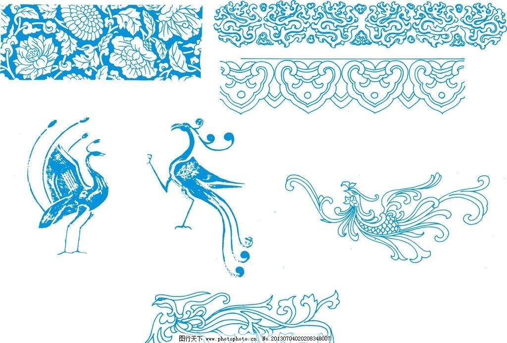 古典花纹模板下载 花纹 孔雀 孔雀矢量图 花纹花边 底纹边框 矢量 cdr图片