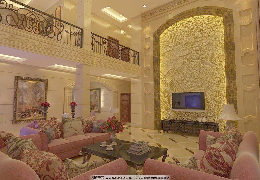 欧式客厅 欧式 电视背景