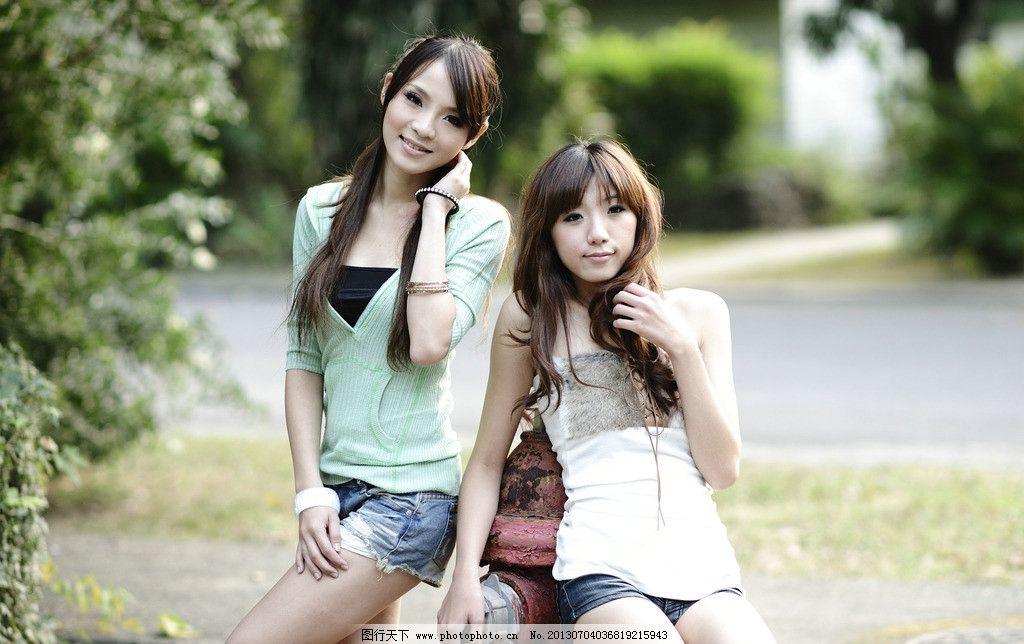 美女姐妹花 清纯美女 可爱美女 清爽美女 秀气 天生丽质 青春靓丽