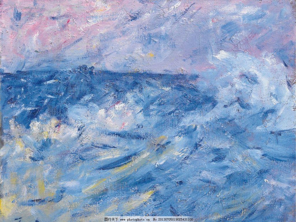海浪油画 海浪 大海 海水 大浪 风光画 风景画 山水画 油画 欧洲油画