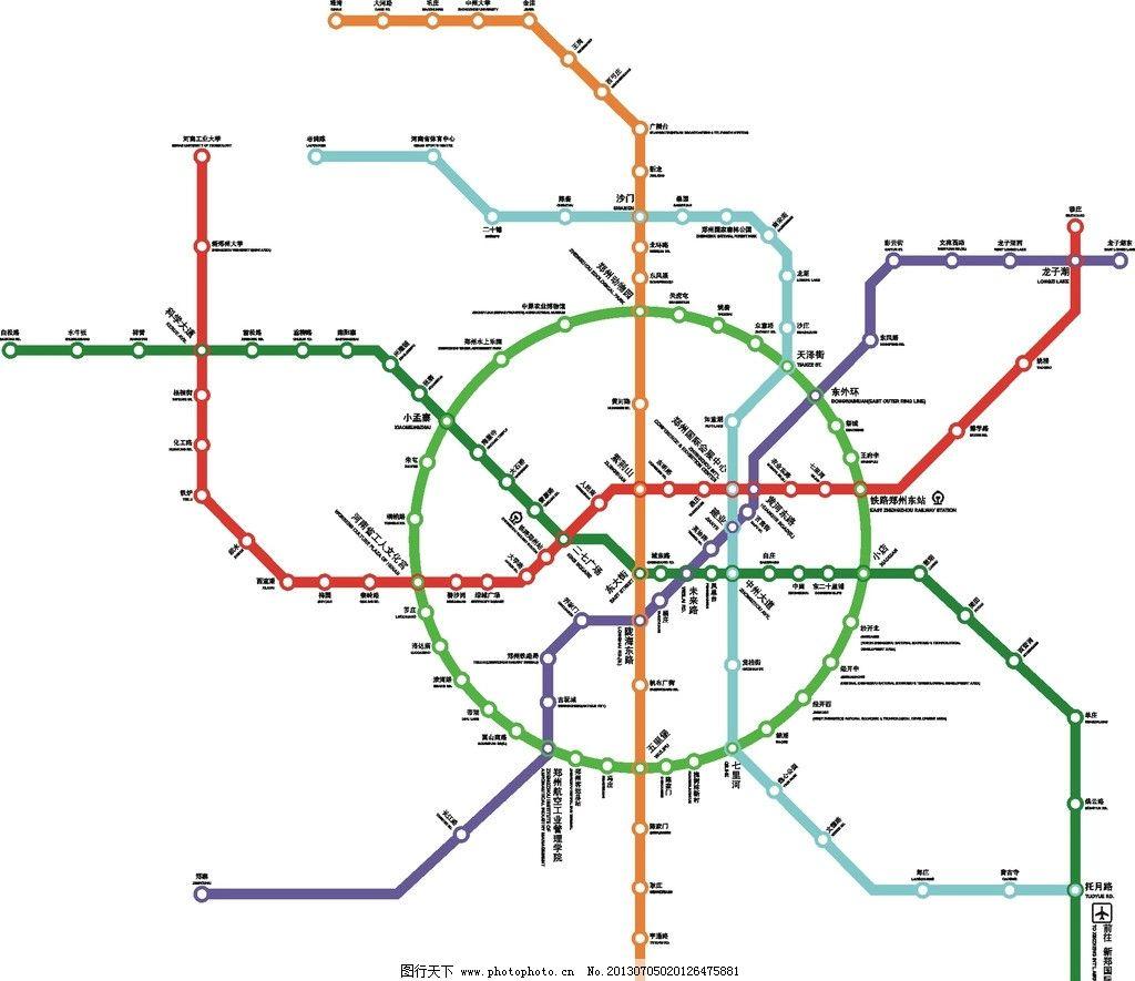 郑州 线路图/郑州轨道线路图图片