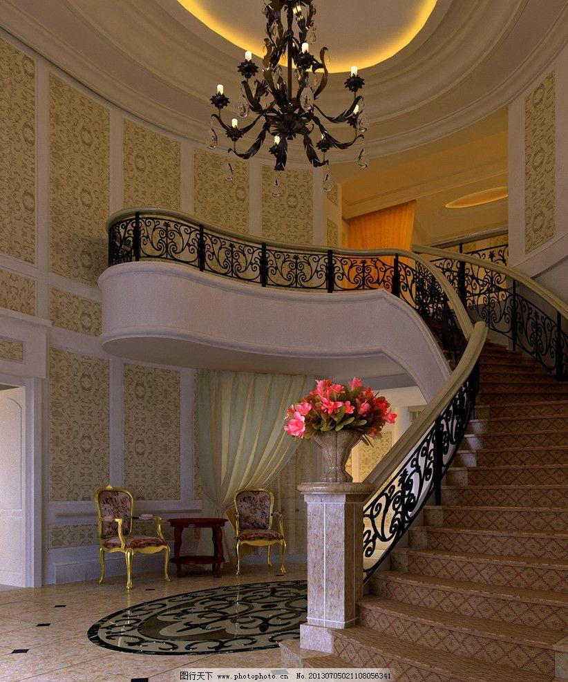 欧式楼梯间图片