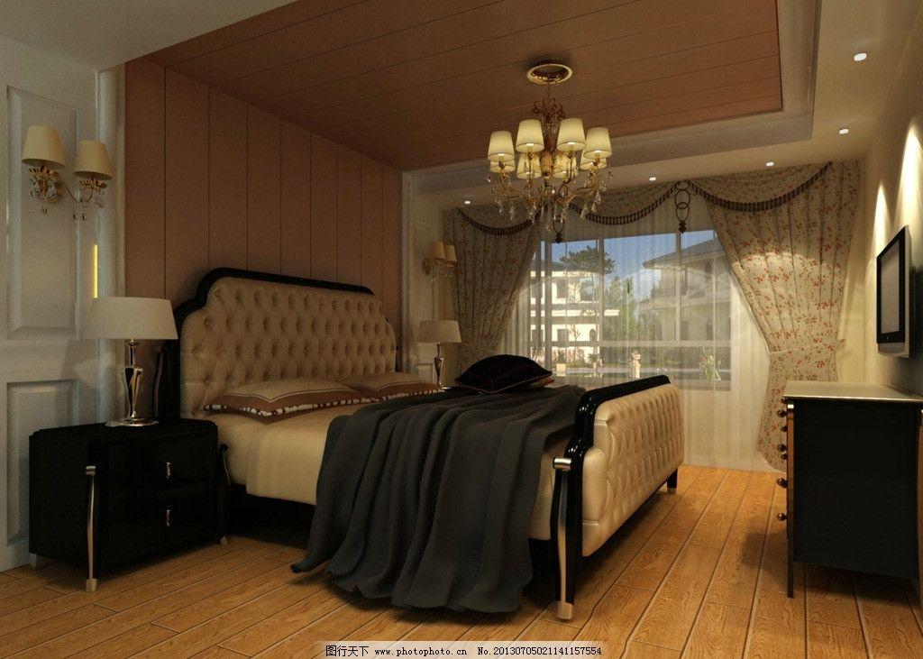 欧式卧室 欧式风格 木地板