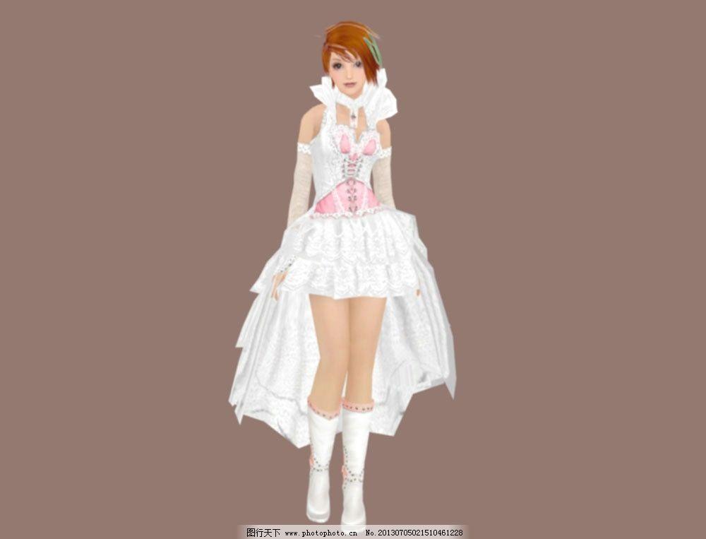 婚纱丽人模型 美女 少女 模特 苗条身材 美丽 圣洁 礼服 人物
