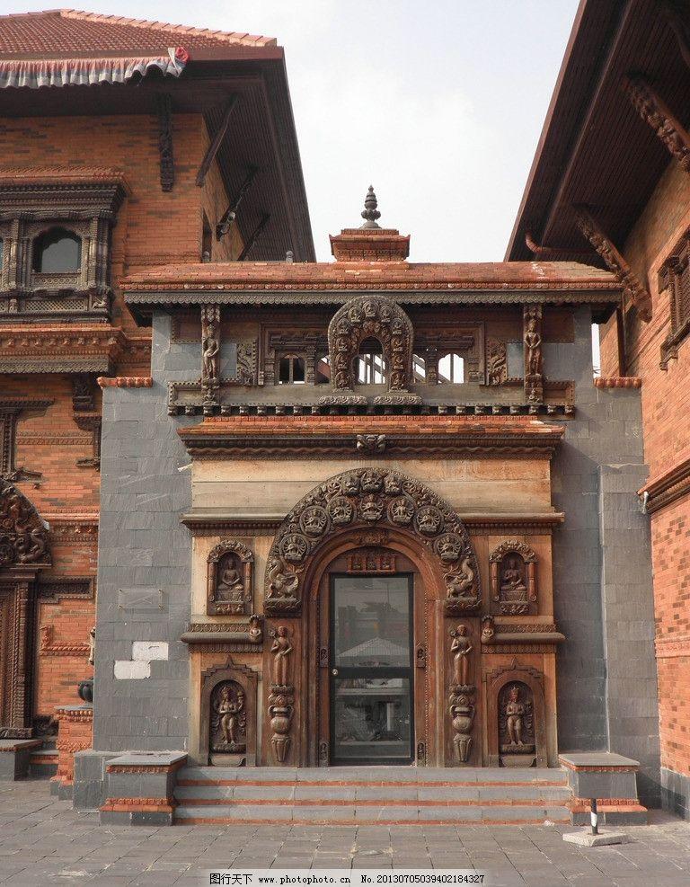 尼泊尔馆 世博会 佛像 木雕 陶塑 建筑摄影 建筑园林