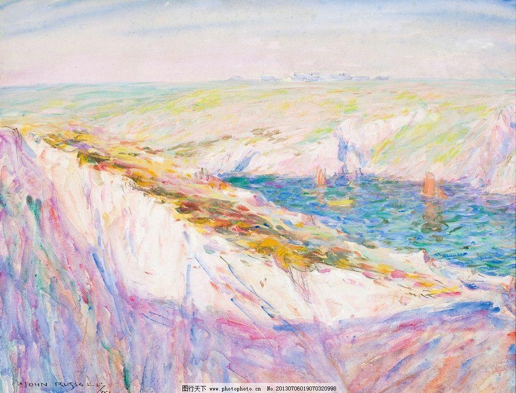 海边风光油画 海边 大海 海洋 海岛 自然风光 自然美景 风光画 风景画