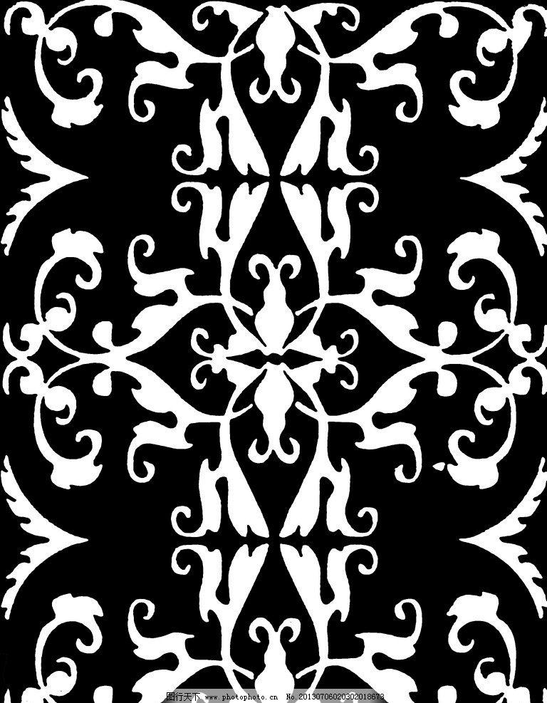 墙纸黑白图 黑白贴图 欧式墙纸 欧式图案 欧式壁纸贴图 花边花纹 底纹