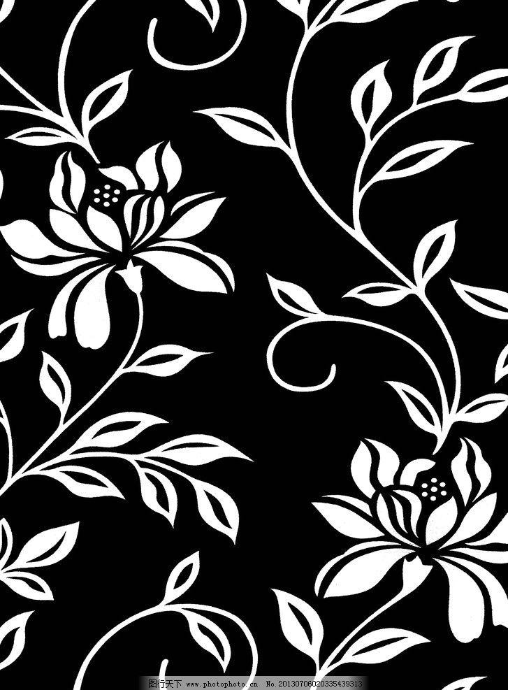 黑白花纹图案 黑白贴图 中式 墙纸贴图 中式墙纸 花边花纹 底纹边框