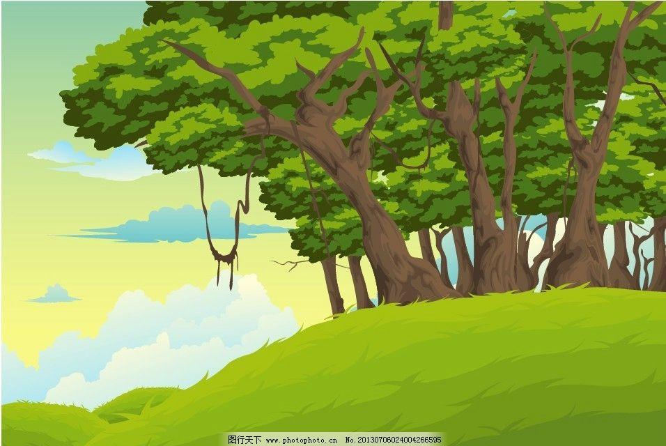 动画森林场景设计