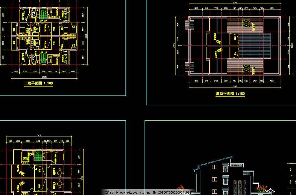 豪华型别墅方案 图纸 平面图 装修 装饰 施工图 立面图 剖面图