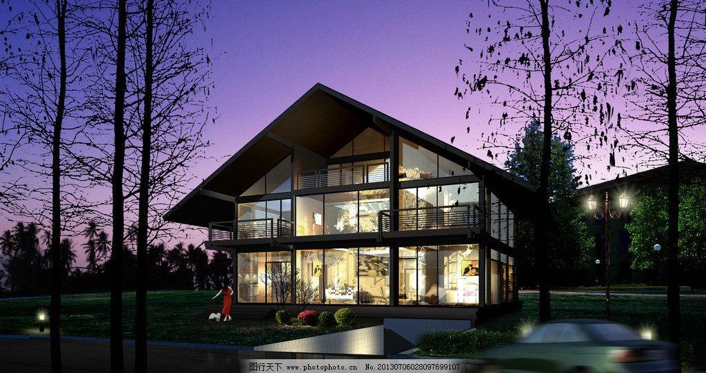 某钢结构别墅效果图图片