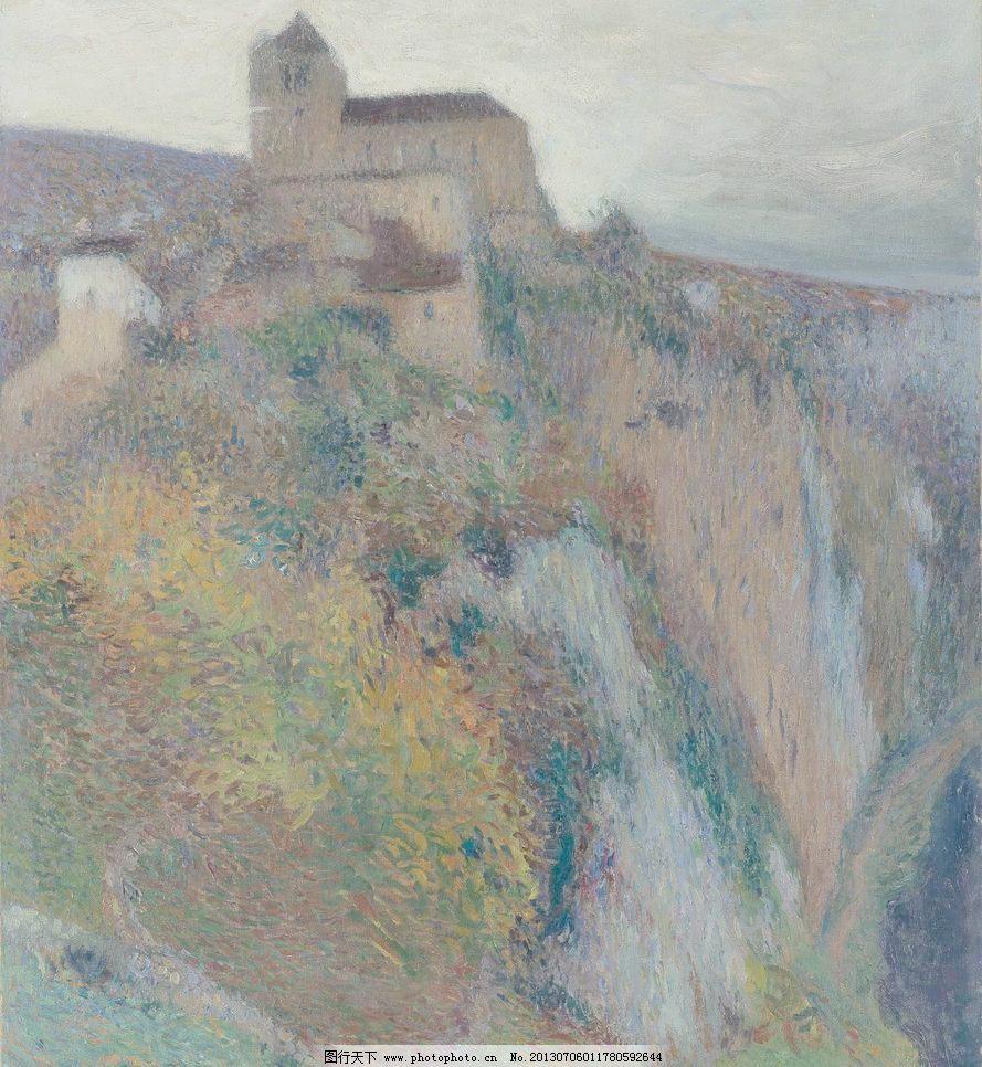 山峰城堡油画设计素材 山峰城堡油画模板下载 山峰城堡油画 城堡 古堡