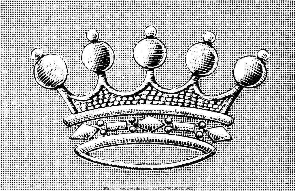 服装边饰 刺绣 英文字母 绳子 皇冠 黑白花边植物纹样线条花卉 绘画