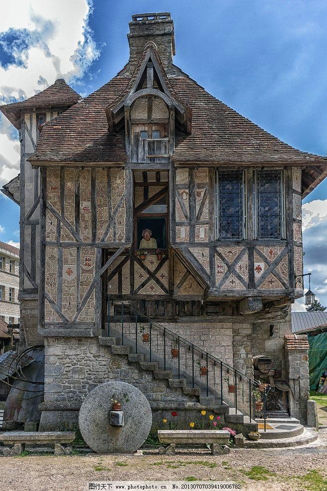 法国小屋 法国 小屋 欧洲 欧式 稻田 建筑摄影 建筑园林 摄影 762dpi