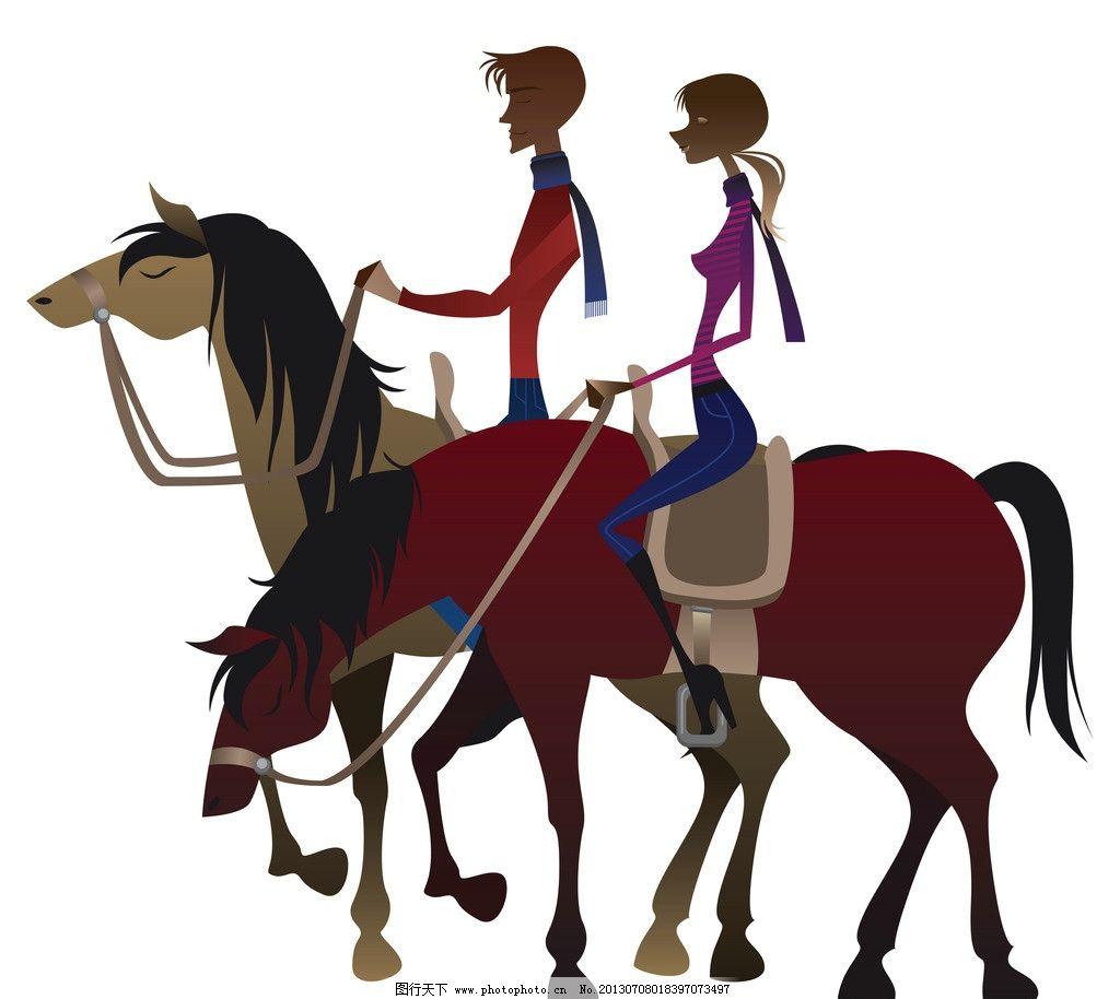 马术 骑马 漫画 卡通 马 骑士 动漫人物 动漫动画 设计 300dpi jpg