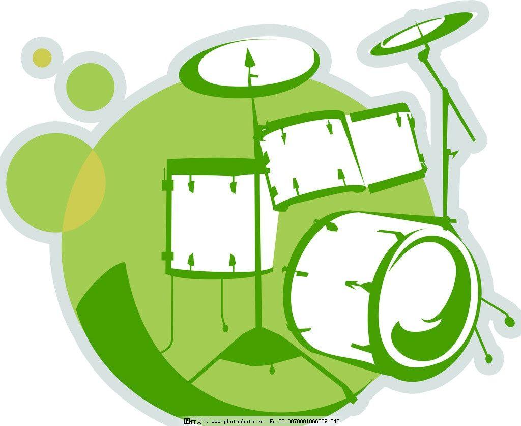 架子鼓音乐艺术 架子鼓 音乐 艺术 造型 绿色 其他 动漫动画 设计 72图片