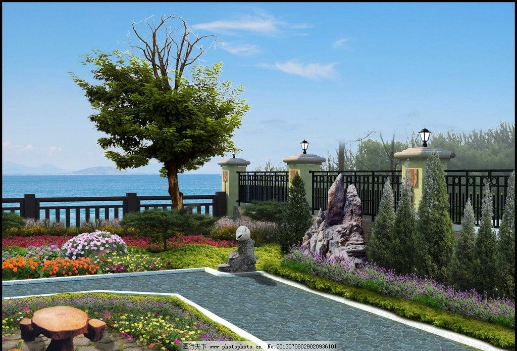 庭院景观绿化 花池植物 别墅区绿化 花卉 小面积绿化 院子布景 其他设