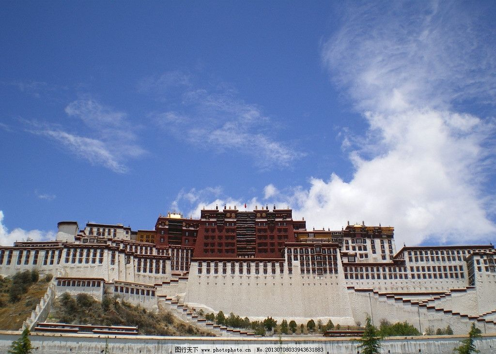 布达拉宫 喇嘛图片