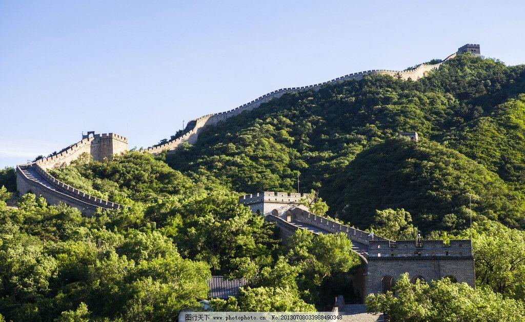 八达岭长城 北京 八达岭 长城 群山 山峦 古迹 古建筑 风景名胜 自然