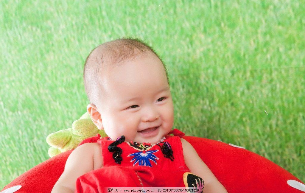 宝贝儿子图片,红肚兜 可爱 宝宝 男孩 宝贝笑笑 儿童