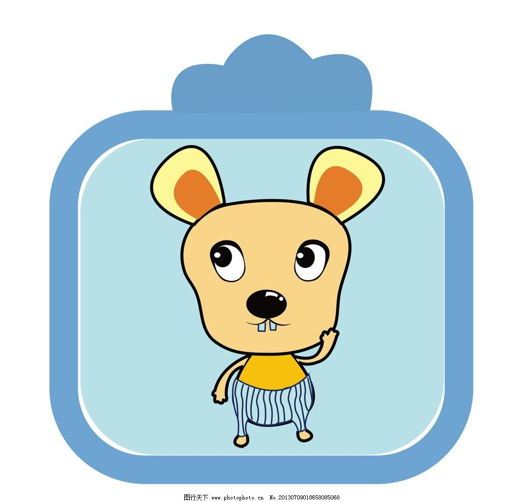 老鼠 鼠年 可爱 漫画 卡通 动漫动物 动漫动画