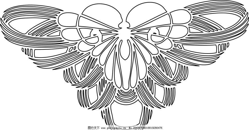 简单黑白画画蝴蝶的
