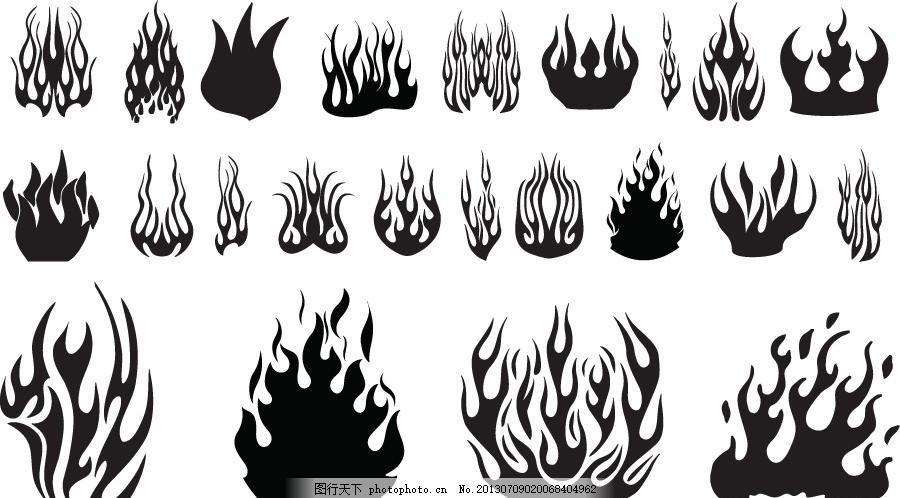 设计图库 标志图标 网页小图标  纹身图案矢量素材 纹身 火焰 大火