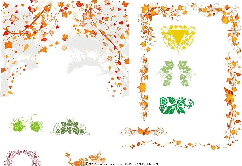 树叶边框花纹图片图片