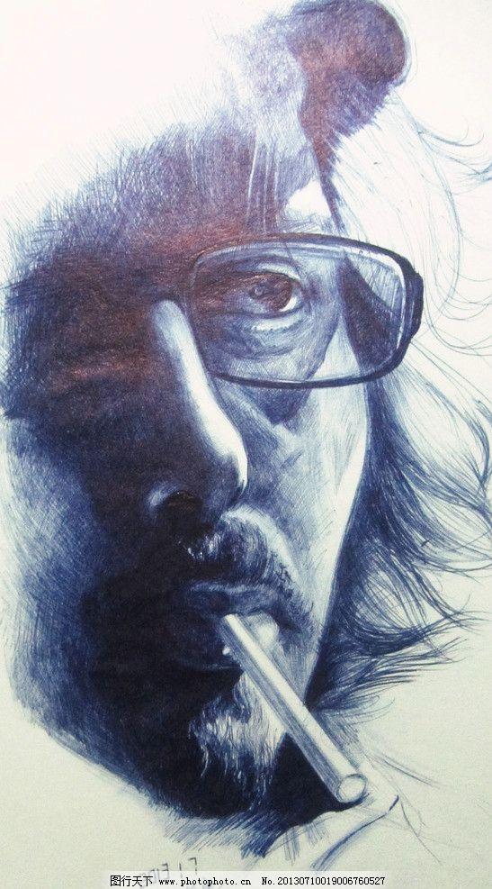 邬保康圆珠笔画 圆珠笔画 素描 手绘 创意 人物      绘画书法 文化