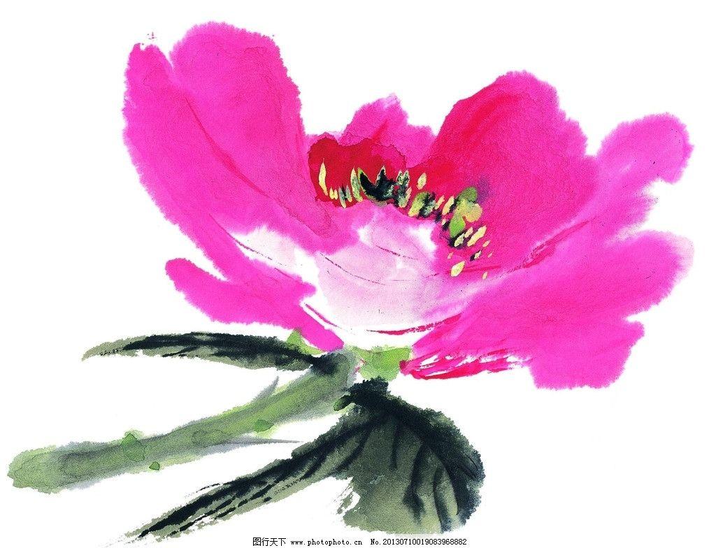 牡丹 牡丹画 牡丹花 国画牡丹 笔墨花 绘画 描述 设计 绘画书法 文化