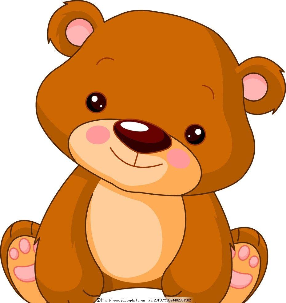 卡通动物 狗熊 手绘动物 矢量素材